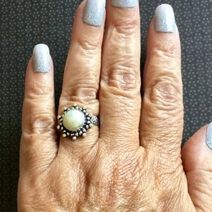 Petite Natural Pearl Gemstone Ring